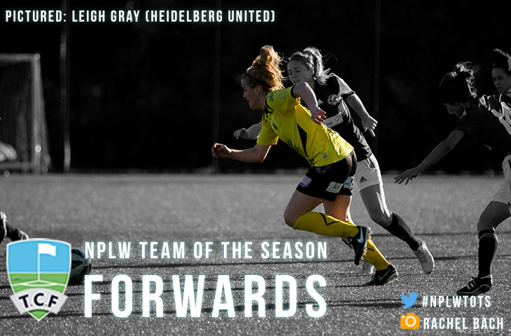 NPLW Team of the Season Graphic Header Forwards - Leigh Gray